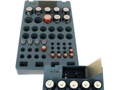 Organizador de Pilhas com Testador e Carregador