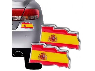 Autocolantes para Carros com a Bandeira Espanhola (conjunto de 2)