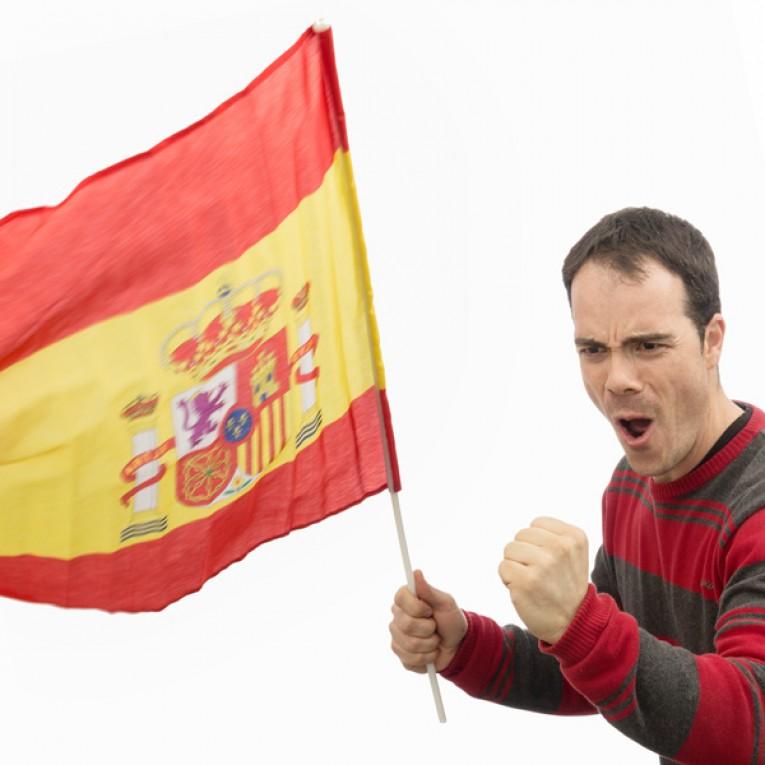 Bandeira Espanhola 60 x 90 cm com Mastro