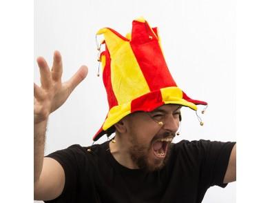 Chapéu de Bobo com 14 Guizos Bandeira de Espanha