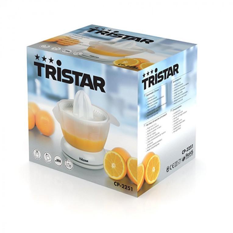 Espremedor Elétrico Tristar CP2251 0,5 L 18W Branco Transparente