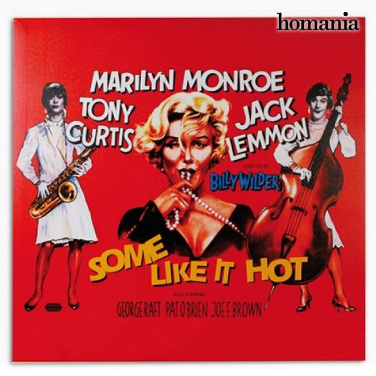 Foto de Marilyn Monroe Some Like It Hot em tela de tecido 60 x 60