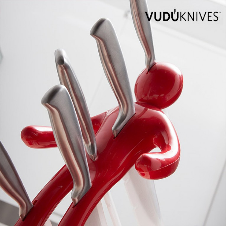 Suporte para facas e conjunto de facas VUDÚKNIFES
