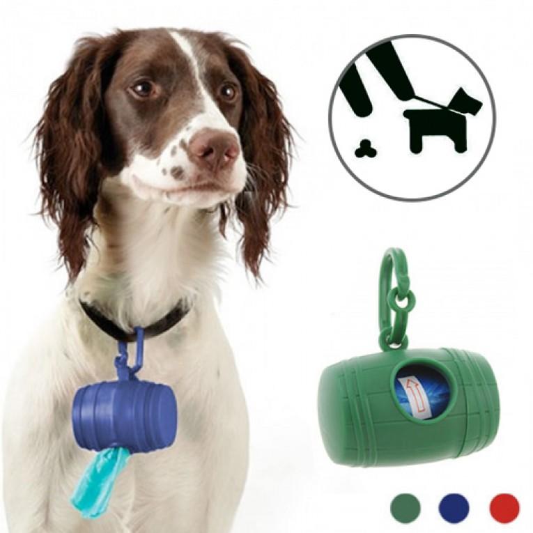 Porta Sacos para Excrementos de Cão (com 15 Sacos)