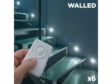 Lâmpadas LED WalLED Mini com Comando (pack de 6)