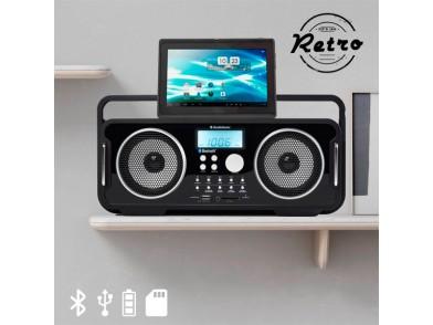 Rádio Bluetooth Recarregável Estilo Retro AudioSonic RD1556