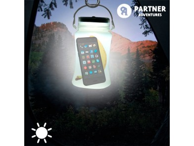 Garrafa LED Solar de Silicone Partner Adventures