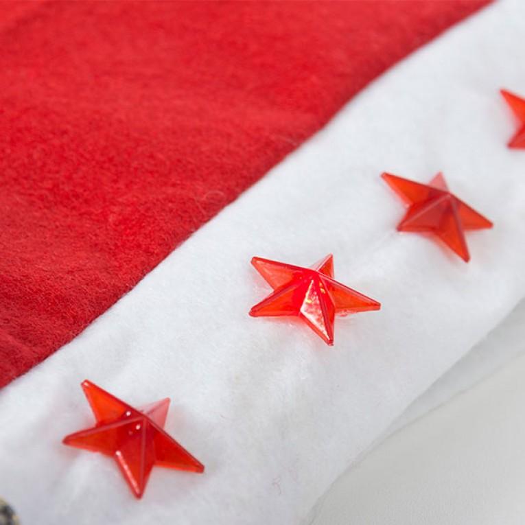 Gorro de Pai Natal com Estrelas LED