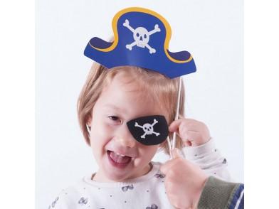 Acessórios de Pirata para Fotos Divertidas (conjunto de 12)