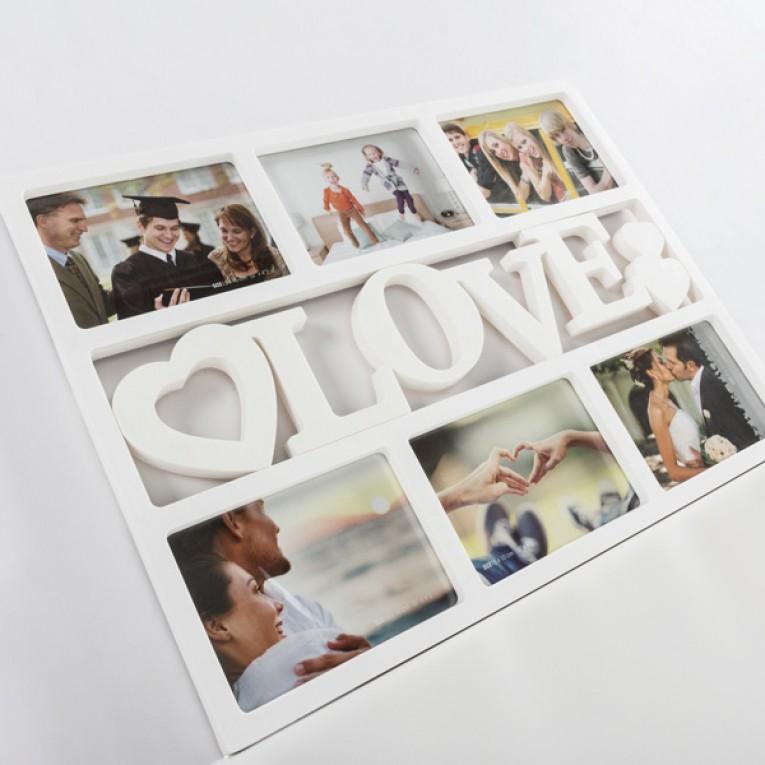 Moldura Love com Corações (6 fotos)