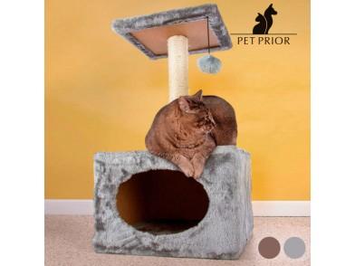 Arranhador para Gatos com Casinha