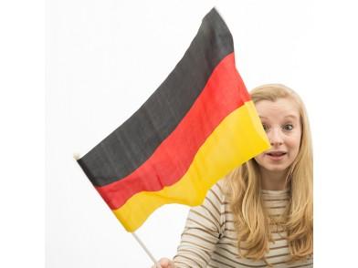 Bandeira da Alemanha com Mastro (46 x 30 cm)