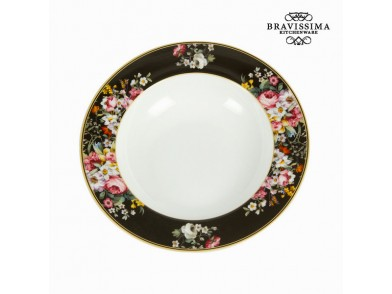 Prato Fundo (Ø 23 cm) Porcelana - Kitchen's Deco Coleção