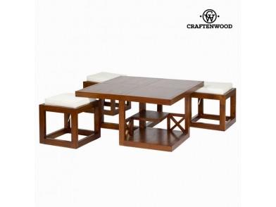 Mesa de Centro (90 x 90 x 45 cm) Madeira de cedro - Chocolate Coleção