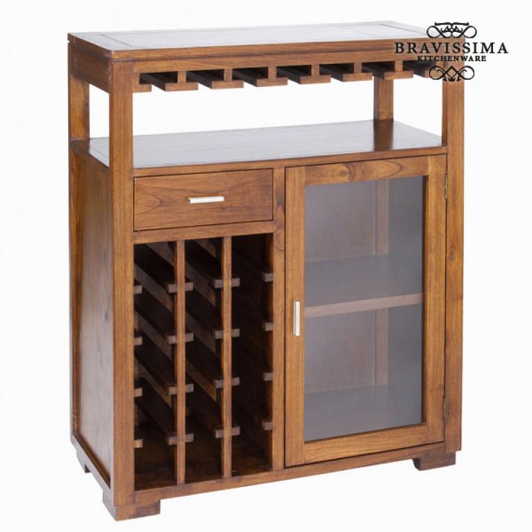 Móvel (110 x 90 x 40 cm) Suporte para garrafas Madeira de cedro - Serious Line Coleção
