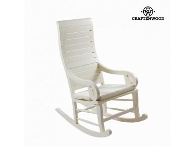 Cadeira de baloiço (113 x 110 x 55 cm) Teca Branco