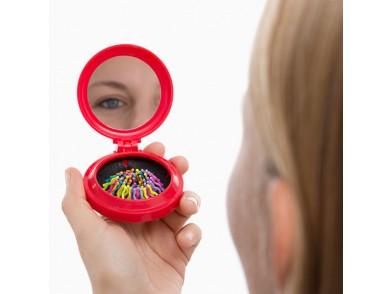 Espelho de Bolso com Escova Integrada Colors