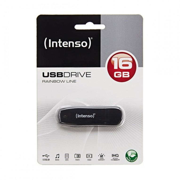 Memória USB INTENSO 3502470 16 GB Preto