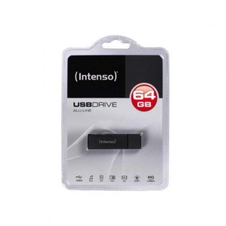 Memória USB e Micro USB INTENSO ALU LINE 64 GB Antracite