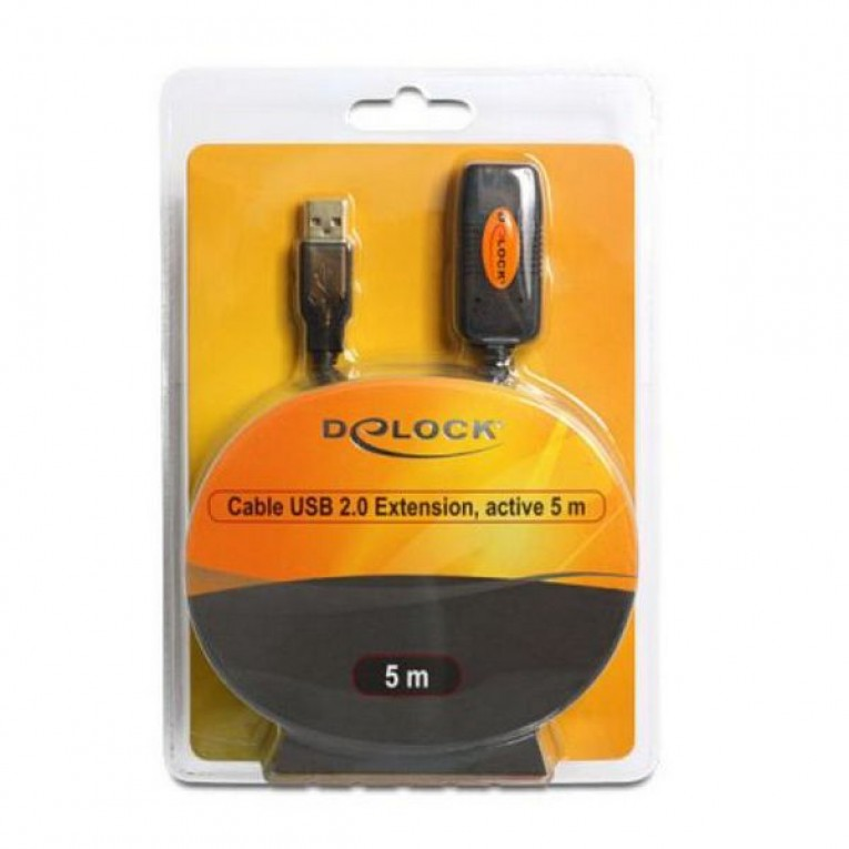 Cabo alongador DELOCK 82308 USB 2.0 5 m