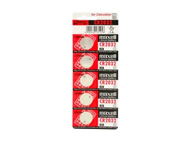 Pilhas de Botão de Lítio Maxell CR2032 3 V