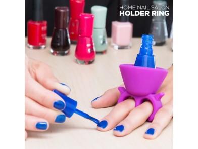 Anel-Suporte para Laca de Unhas Home Nail Salon
