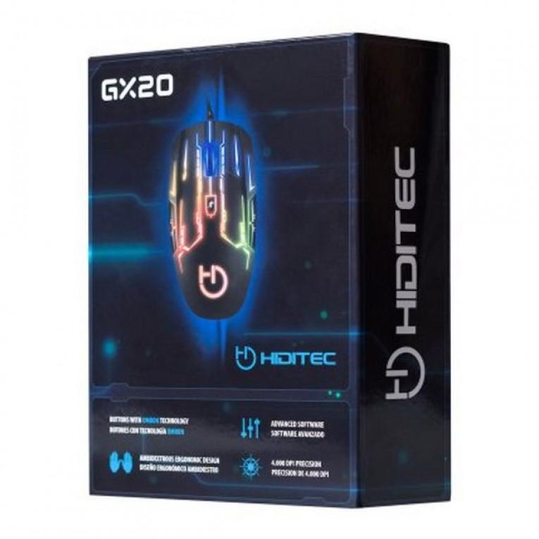 Rato Gaming com LED Hiditec GX20 4000 dpi Preto