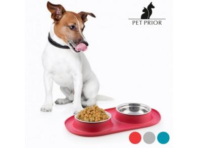 Comedouro-Bebedouro para Animais Antiderrapante Pet Prior