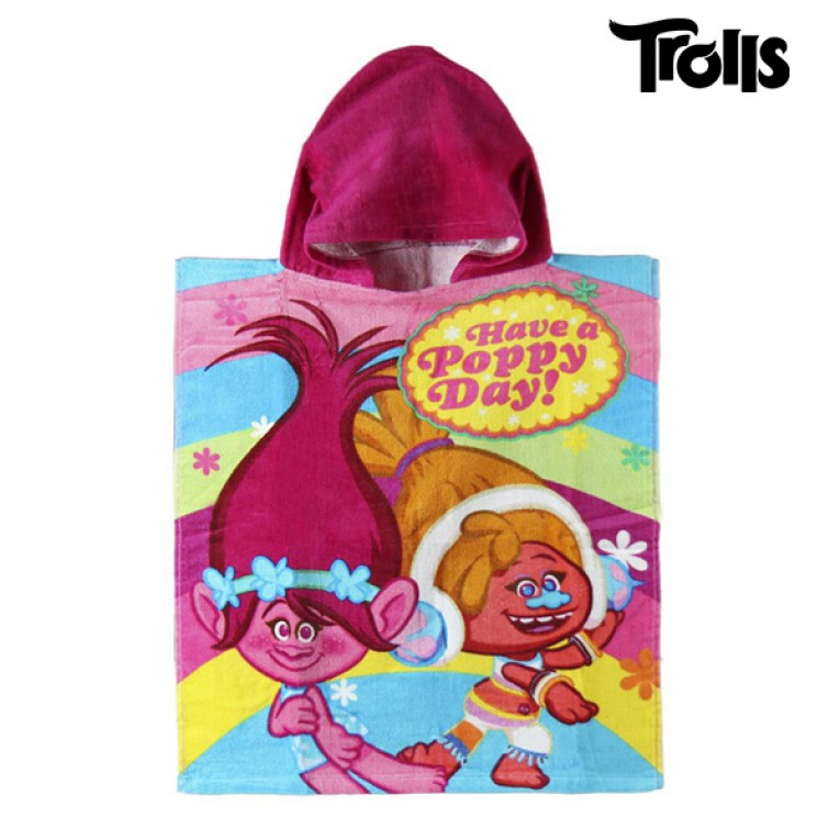 Poncho-Toalha com Capuz Trolls