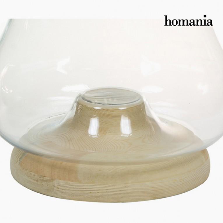 Castiçais Vidro Madeira - Pure Crystal Deco Coleção