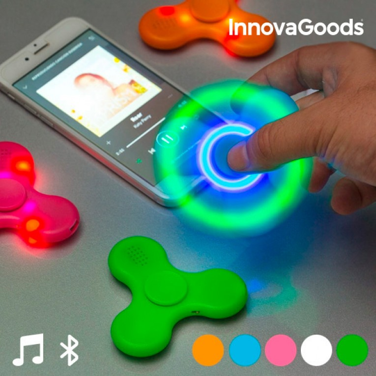 Spinner LED com Alta Voz e Bluetooth InnovaGoods