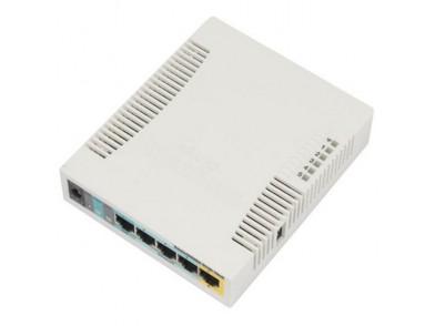 Ponto de Acesso Mikrotik RB951UI-2HND AP 2.4 GHz 5 Eth 600 MHz 128 M