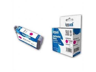 Cartucho de tinta reciclado iggual Epson E-1633 Magenta