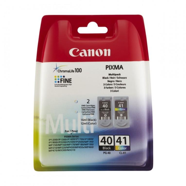 Cartucho de Tinta Original (pack de 2) Canon PG-40/CL41 Tricolor Preto