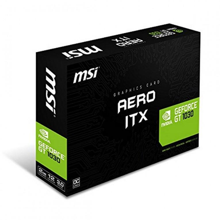 Placa Gráfica MSI VGA NVIDIA GT 1030 AERO ITX OC 2 GB GDDR5