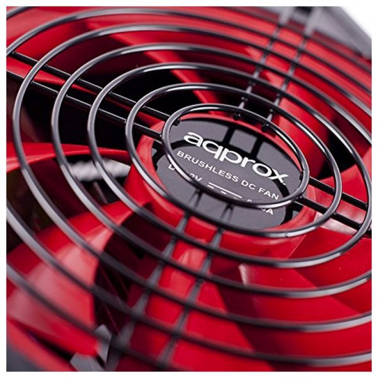 Fonte de Alimentação Gaming approx! APP700PS 14 cm APFC 700W Preto Vermelho