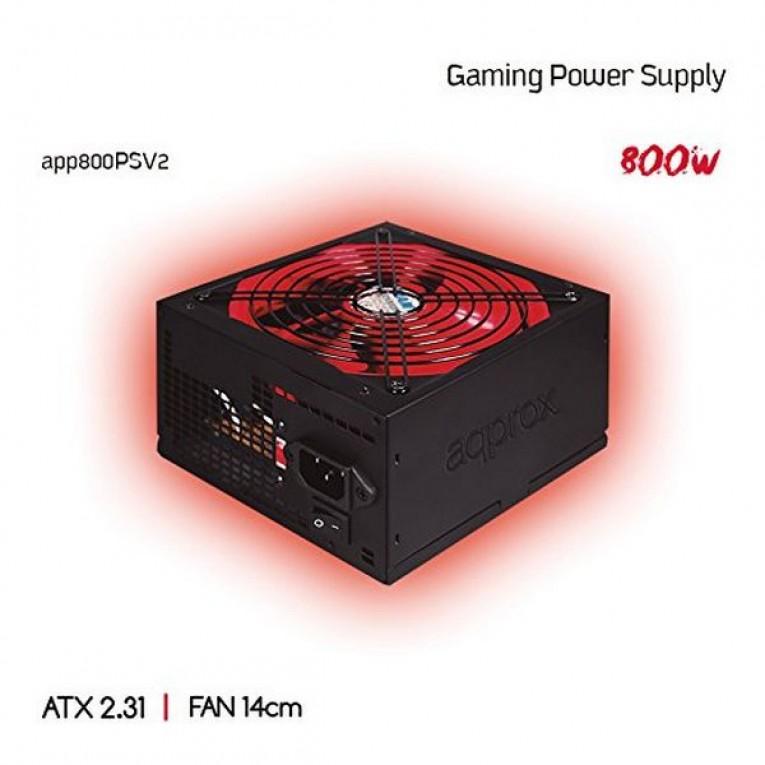 Fonte de Alimentação Gaming approx! APP800PSv2 14 cm APFC 800W Preto Vermelho
