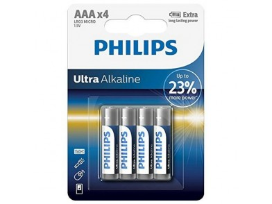 Pilhas Alcalinas Philips LR03 AAA LR03 (4 pcs)