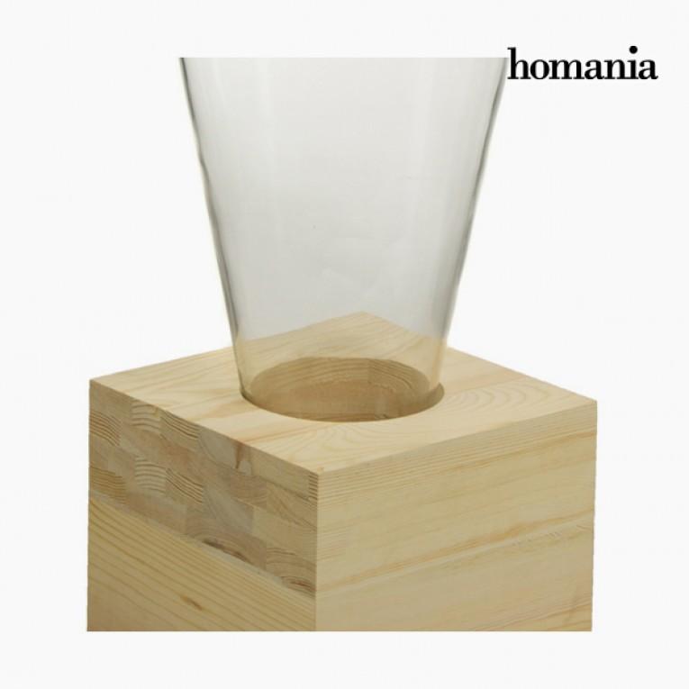 Vaso Vidro Madeira - Pure Crystal Deco Coleção