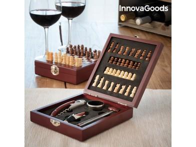 Conjunto de Acessórios para Vinho e Xadrez InnovaGoods (37 Peças)