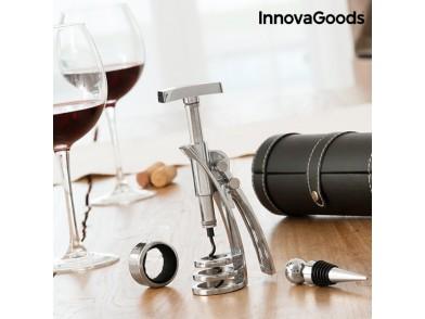 Conjunto de Acessórios para Vinho com Saca-rolhas Screwpull InnovaGoods (4 Peças)
