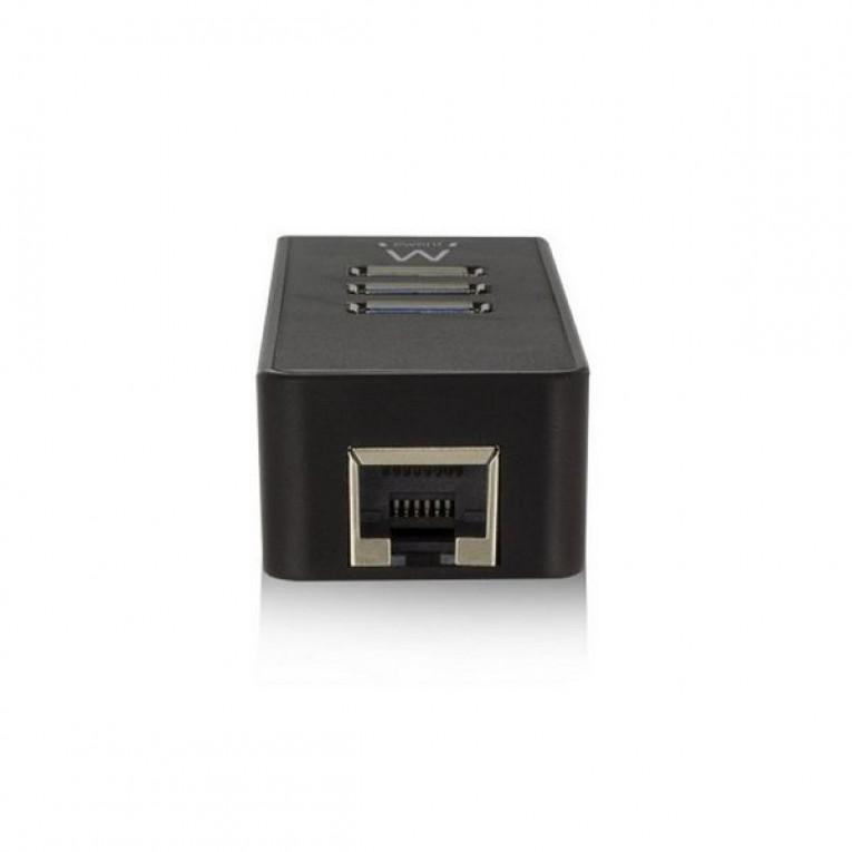 Hub USB Ewent EW1140 3 x USB 3.1 RJ45 Plug and Play