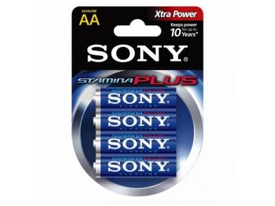 Pilha Alcalina Sony 4+2 AA Stamina Plus AM3-B4X2D 1,5 V AA (4 pcs) Azul