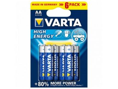 Pilha Alcalina Varta 4906 AA 1,5 V AA High Energy (6 pcs) Azul