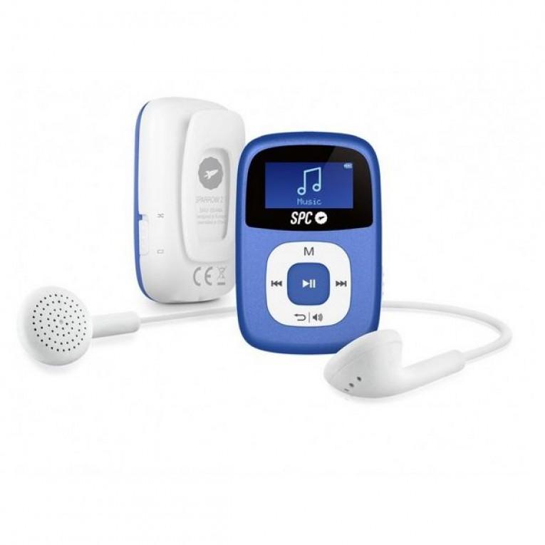 Reprodutor MP3 SPC Sparrow 8644A 4 GB Azul Clipe