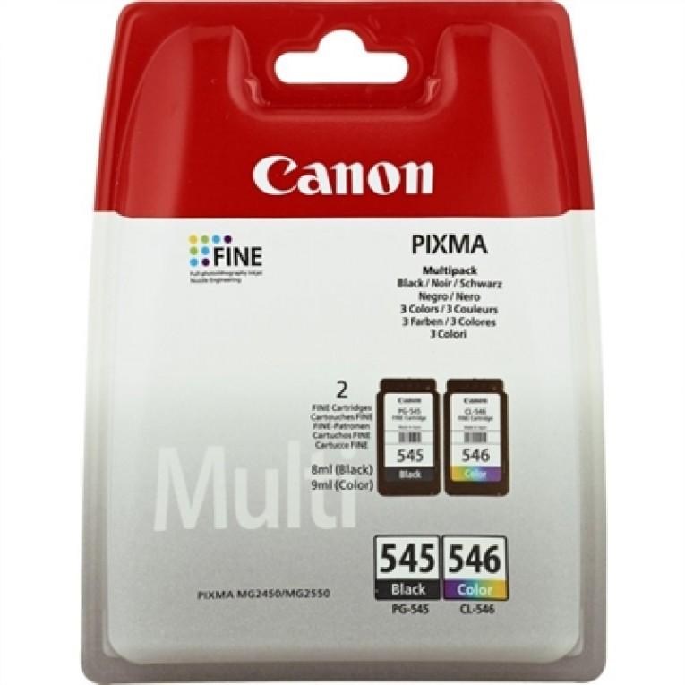 Cartucho de Tinta Original (pack de 2) Canon PG-545/CL-546 Tricolor Preto