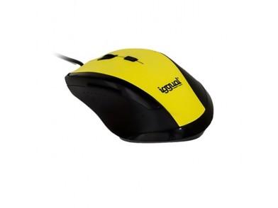 Rato Ótico iggual IGG314975 WORK-1 1600 dpi USB 6 D Amarelo