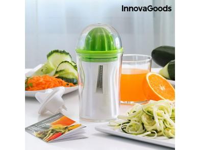 Cortador de Verduras e Espremedor 4 em 1 com Livro de Receitas InnovaGoods