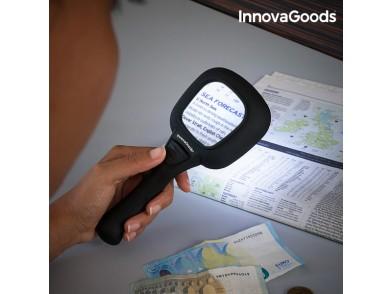 Lupa com Luz LED e Ultravioleta 3X InnovaGoods