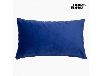 Almofada Velvet (30 x 50 x 10 cm) Poliéster Azul